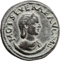 Ancients:Judaea, Ancients: Neapolis, Samaria. Otacilia Severa, wife of Philip I (244- 249 AD). AE (30mm, 15.40 gm, 6h). ...