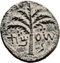 Ancients:Judaea, Ancients: Bar Kokhba Revolt (132 - 135 AD). AE middle bronze (26mm, 8.74 gm, 6h). ...