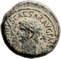 Ancients:Judaea, Ancients: Agrippa II (49/50 - 94/95 AD) under Claudius. Pre-Royalseries. AE (23mm, 12.81 gm, 12h). ...