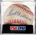 Baseball Collectibles:Balls, Ted Williams Single Signed Baseball PSA EX-MT+ 6.5. ...
