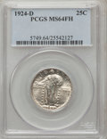 Standing Liberty Quarters, 1924-D 25C MS64 Full Head PCGS....