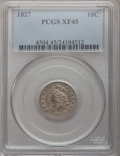 Bust Dimes: , 1827 10C XF45 PCGS. PCGS Population (16/195). NGC Census: (12/219).Mintage: 1,300,000. Numismedia Wsl. Price for problem f...