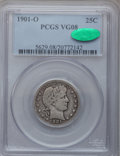 Barber Quarters: , 1901-O 25C VG8 PCGS. CAC. PCGS Population (5/115). NGC Census:(1/47). Mintage: 1,612,000. Numismedia Wsl. Price for proble...