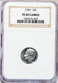Proof Roosevelt Dimes: , 1959 10C PR69 Cameo NGC. NGC Census: (50/0). PCGS Population(17/0). Numismedia Wsl. Price for problem free NGC/PCGS coin ...