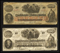 Confederate Notes:1862 Issues, CT41 Counterfeit $100 1862. T41 Facsimile $100 1862 Ad Note.. ...(Total: 2 notes)
