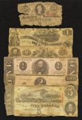 Confederate Notes:Group Lots, Six Different Criswell Numbers.. ... (Total: 6 notes)