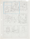 Original Comic Art:Miscellaneous, Hal Foster Prince Valiant Sunday Comic Strip Preliminary OriginalArt (1973)....