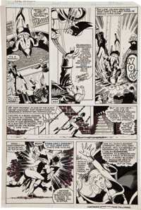 John Byrne and Terry Austin The X-Men #134 Wolverine, Nightcrawler, and Storm Page 7 Original Art (Mar