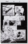Original Comic Art:Panel Pages, Greg Capullo, Todd McFarlane, and Chance Wolf Spawn #64 Page 9 Original Art (Image, 1997).... (Total: 3 Items)
