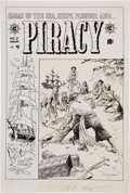 Original Comic Art:Covers, Reed Crandall Piracy #2 Cover Original Art (EC, 1954)....