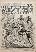 Original Comic Art:Covers, John Severin and Bill Elder Prize Comics Western #93American Eagle Cover Original Art (Prize, 1952)....