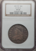 Bust Half Dollars: , 1817/3 50C VF25 NGC. O-101A. NGC Census: (9/110). PCGS Population(18/136). Numismedia Wsl. Price for problem free NGC/PC...