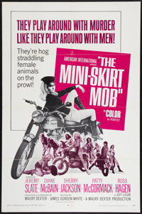 "The Mini-Skirt Mob (American International, 1968). One Sheet (27"" X 41""). Exploitation"
