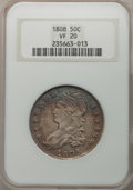 Bust Half Dollars: , 1808 50C VF20 NGC. NGC Census: (15/388). PCGS Population (24/485).Mintage: 1,368,600. Numismedia Wsl. Price for problem fr...