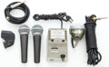 Musical Instruments:Amplifiers, PA, & Effects, Microphone Lot Shure SM-58, Bullet Mic, DeArmond... (Total: 4 Items)