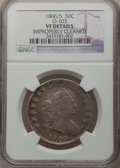 Early Half Dollars: , 1806/5 50C -- Improperly Cleaned -- NGC Details. VF. O-103. NGCCensus: (11/916). PCGS Population (28/131). Numismedia Ws...