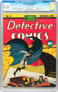 Detective Comics #33 (DC, 1939) CGC VF 8.0 Off-white to white pages