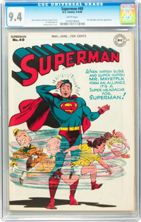 Superman #40 (DC, 1946) CGC NM 9.4 White pages