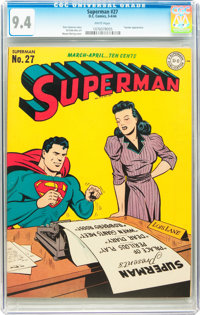 Superman #27 (DC, 1944) CGC NM 9.4 White pages