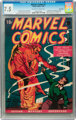 Marvel Comics #1 Billy Wright pedigree (Timely, 1939) CGC VF- 7.5 Off-white to white pages