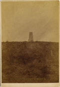 Photography:Official Photos, MAGNIFICENT BARRY IMPERIAL CARD OF CUSTER BATTLEFIELD MONUMENT ca. 1881. Handsome sepia-toned image measuring approximately ... (Total: 1 Item)