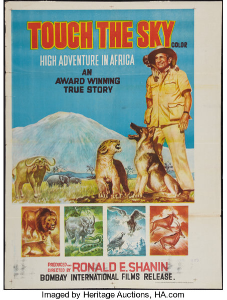 Touch the Sky (Bombay International Films, 1970)  Indian Poster