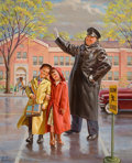 Mainstream Illustration, ART FRAHM (American, 1906-1981). Smitten. Oil on canvas. 32x 26 in.. Signed lower left. From the Estate of Charles ...