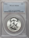 Franklin Half Dollars: , 1962 50C MS66 PCGS. PCGS Population (17/0). NGC Census: (17/1).Mintage: 9,700,000. Numismedia Wsl. Price for problem free ...