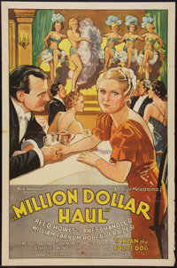 "Million Dollar Haul (Stage and Screen Productions, 1935). One Sheet (27"" X 41""). Action"
