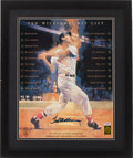 Baseball Collectibles:Others, Ted Williams Signed Oversized Print. ...
