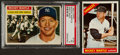Baseball Cards:Singles (1950-1959), 1956 Topps and 1966 Topps Mickey Mantle Pair (2). ...