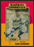 Baseball Cards:Autographs, Hank Greenberg Signed Card....