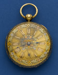 Timepieces:Pocket (pre 1900) , P. Garrett & Son Heavy 18k Gold Pocket Watch. ...