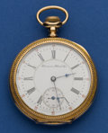 Timepieces:Pocket (post 1900), Hampden 17 Jewel Two-Tone Movement Pocket Watch. ...