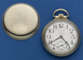 Timepieces:Pocket (post 1900), Waltham 23 Jewel Vanguard Pocket With Up/Down Indicator Watch. ...