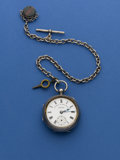 """Timepieces:Pocket (post 1900), H. Samuel Manchester """"The Climax Trip Action Patent"""" 54 mm Pocket Watch. ..."""