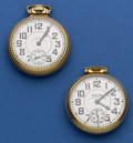 Timepieces:Pocket (post 1900), Two Waltham 23 Jewel Vanguard Pocket Watches Runners. ... (Total: 2 Items)