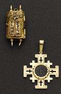 Estate Jewelry:Pendants and Lockets, Two Religious Gold Lockets. ... (Total: 2 Items)