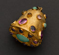 Estate Jewelry:Other , Large 14k Gold Multi-Color Stone Charm/Fob. ...