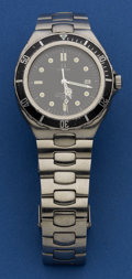 Timepieces:Wristwatch, Omega 396 1061 Steel Seamaster Professional. ...