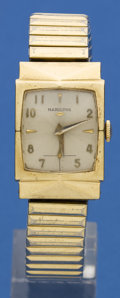 "Timepieces:Wristwatch, Hamilton 14k Gold ""Dorsey"" Model. ..."