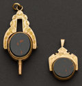 Estate Jewelry:Other , Antique Watch Key Fob & Spinner Fob. ... (Total: 2 Items)