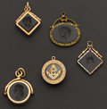 Estate Jewelry:Other , Five Antique Watch Fobs. ...