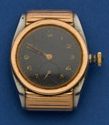 Timepieces:Wristwatch, Rolex Rare Ref. 3595 Steel & Rose Gold Hooded Bubbleback ForRestoration. ...