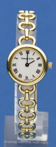 Timepieces:Wristwatch, Tiffany & Co. Lady's 14k Bracelet Watch. ...