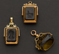 Estate Jewelry:Other , Three Antique Watch Fobs. ... (Total: 3 Items)