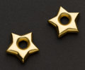 Estate Jewelry:Other , Large Gold Stars For Hoop Earrings. ...