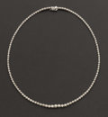 Estate Jewelry:Necklaces, Diamond & White Gold Necklace. ...