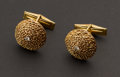 Estate Jewelry:Cufflinks, Gold & Diamond Cufflinks. ...