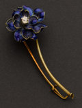 Estate Jewelry:Brooches - Pins, Tiffany & Co. Early Enamel & Diamond Pin. ...